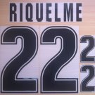 RIQUELME 22 ARGENTINA 1999 2001 NAME NUMBER SET NAMESET KIT PRINT NUMBERING