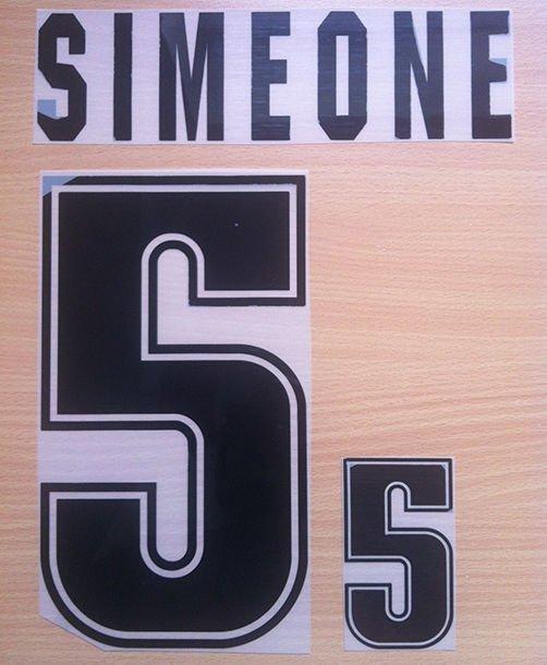 SIMEONE 5 ARGENTINA 1999 2001 NAME NUMBER SET NAMESET KIT PRINT NUMBERING
