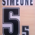 SIMEONE 5 ARGENTINA 1999 2001 NAME NUMBER SET NAMESET KIT PRINT NUMBERING