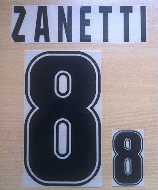 ZANETTI 8 ARGENTINA 1999 2001 NAME NUMBER SET NAMESET KIT PRINT NUMBERING