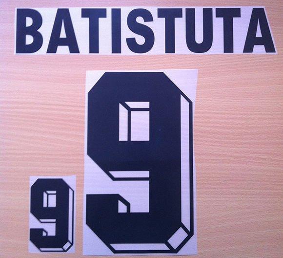 BATISTUTA 9 ARGENTINA 1999 2001 NAME NUMBER SET NAMESET KIT PRINT NUMBERING