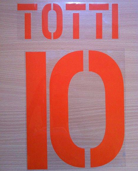 TOTTI 10 AS ROMA BLACK 2003 2004 NAME NUMBER SET NAMESET KIT PRINT NUMBERING