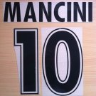 MANCINI 10 SS LAZIO HOME 1998 2000 NAME NUMBER SET NAMESET KIT PRINT NUMBERING