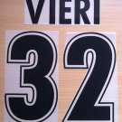 VIERI 32 SS LAZIO HOME 1998 1999 NAME NUMBER SET NAMESET KIT PRINT NUMBERING