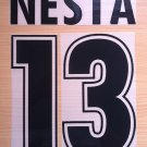 NESTA 13 SS LAZIO HOME 1998 2002 NAME NUMBER SET NAMESET KIT PRINT NUMBERING