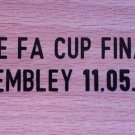 MATCH DETAILS THE FA CUP FINAL WEMBLEY 11 MAY 2013 MANCHESTER CITY VS WIGAN