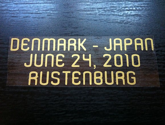 MATCH DETAILS DENMARK VS JAPAN JUNE 24 WORLD CUP 2010 PRINT GOLD