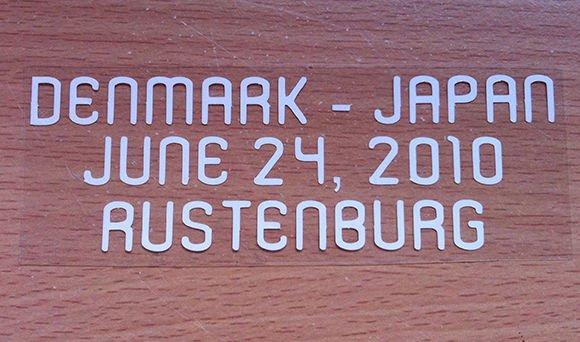 MATCH DETAILS DENMARK VS JAPAN JUNE 24 WORLD CUP 2010 PRINT WHITE
