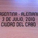 MATCH DETAILS ARGENTINA VS NIGERIA 12 JUNE WORLD CUP SOUTH AFRICA 2010 PRINT