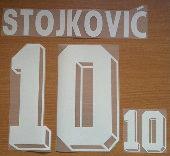 DRAGAN STOJKOVIC 10 YUGOSLAVIA HOME WORLD CUP 1994 NAME NUMBER SET NAMESET PRINT