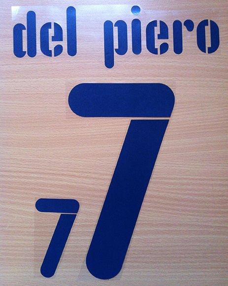 ALESSANDRO DEL PIERO 7 ITALY AWAY WC 2010 NAME NUMBER SET NAMESET KIT PRINT