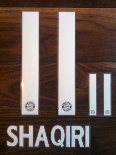 SHAQUIRI 11 BAYERN MUNICH HOME 2013 2014 NAME NUMBER SET NAMESET PRINT FLOCK