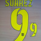 LUIS SUAREZ 9 BARCELONA HOME 2014 2015 NAME NUMBER SET NAMESET KIT PRINT