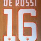 DE ROSSI 16 AS ROMA HOME 2014 2015 NAME NUMBER SET NAMESET KIT PRINT FOOTBALL