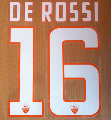 DE ROSSI 16 AS ROMA HOME 2014 2015 NAME NUMBER SET NAMESET KIT PRINT FOOTBALL