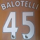 BALOTELLI 45 LIVERPOOL LFC HOME 2014 2015 NAME NUMBER SET NAMESET KIT PRINT FOOTBALL