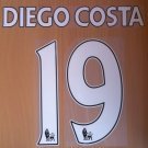 DIEGO COSTA 19 CHELSEA CFC HOME 2014 2015 NAME NUMBER SET NAMESET KIT PRINT FOOTBALL