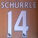 SCHURRLE 14 CHELSEA CFC HOME 2014 2015 NAME NUMBER SET NAMESET KIT PRINT FOOTBALL