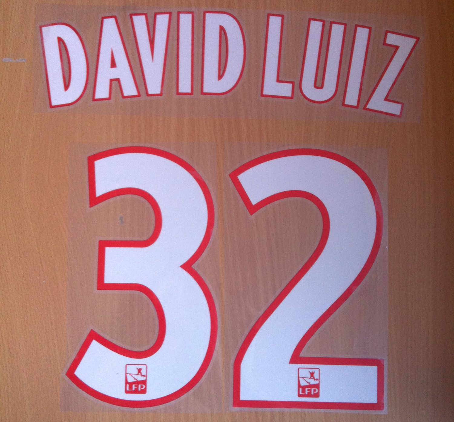 DAVID LUIZ 32 PARIS SAINT GERMAIN PSG HOME 2014 2015 NAME NUMBER SET  NAMESET KIT PRINT FOOTBALL 6d5f7a9db