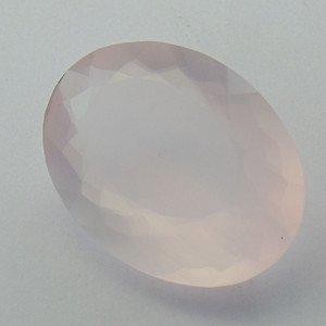 67 Carat Natural Good Color Faceted ROSE QUARTZ Gemstone Oval Shape 26x36mm ST33