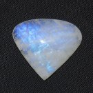 77 Carat Natural RAINBOW MOONSTONE  Gemstone Large Size 33x38mm Pear Shape ST35