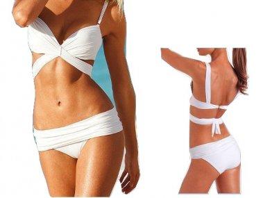 VS Draped Top Women Push Up Padded Swimwear Swimsuit Triangle Bind Maillot Bikini Bathing Suit