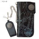 F/S NEW Dragon Ball Z God & God - Vegeta Long wallet with chain purse