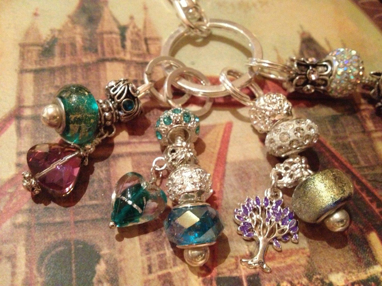 Euro beads multi keychain