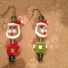 Santa's head earrings