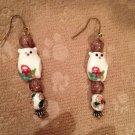 Fat cat earrings