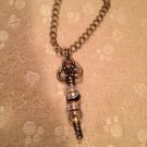 Euro beads key bracelet - pink