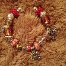 Valentine euro beads bracelet