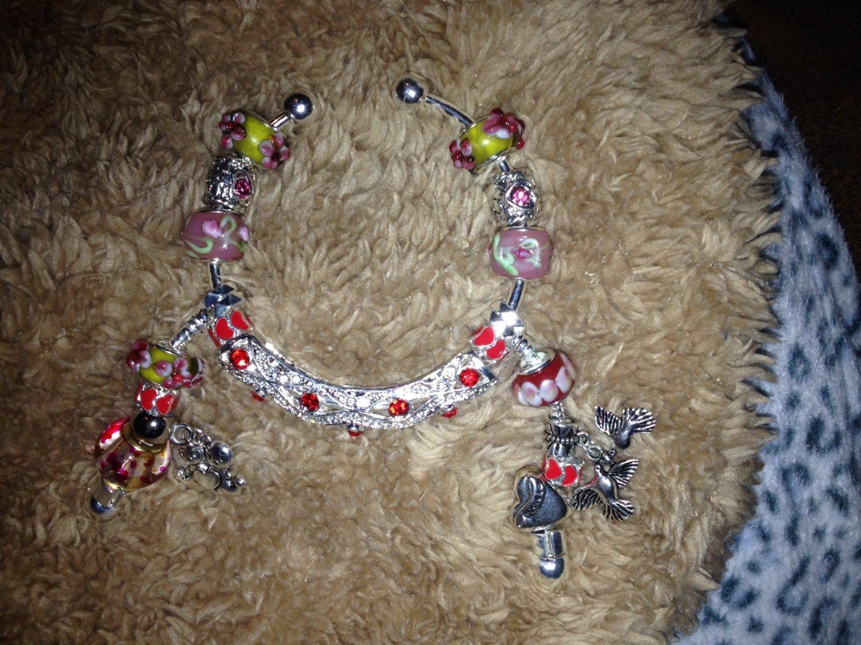 My Valentine dangle euro bracelet