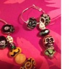 Euro beads halloween dangles earrings