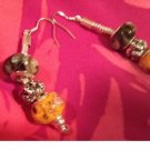 Halloween euro beads earrings