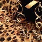 Halloween Euro Beads earrings - skulls