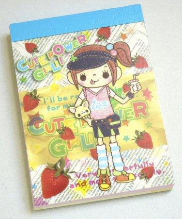 Crux Cute Power Anime Kawaii Girl Mini Memo Pad