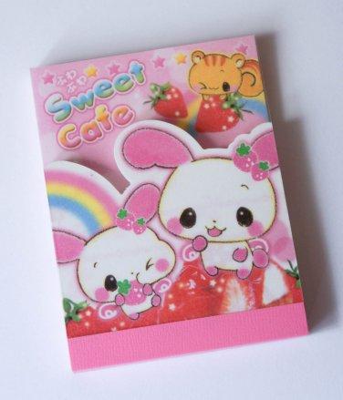 Kamio Sweet Cafe Usagi Bunny mini memo pad