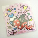 Q-lia Hearts Sticker Sack, kawaii