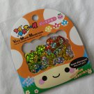 Q-lia Very Much Mushroom Sticker Sack, rare kawaii