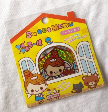 Q-lia Sweet Menu Sticker Sack, kawaii rare