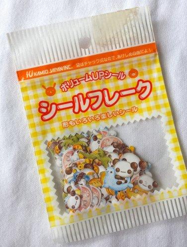Kamio Vintage Panzac Village Summer Sticker Sack, rare kawaii