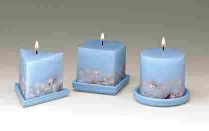 Seashell Design Candles