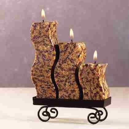 Snakeskin S-Shaped Candle Set
