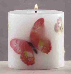 Butterflies & Flowers Scented Candle