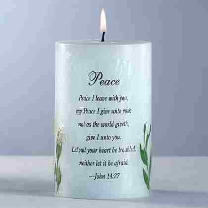 Peace Candle with Dried Flowers
