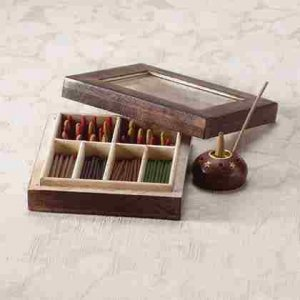Incense Gift Set in Wood Box