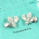 Rare Vintage Tiffany & Co Sterling Silver LARGE Bumble Bee Earrings