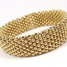 """RARE Vintage Tiffany & Co 18K Yellow Gold 14mm WIDE Beaded Bracelet 6.5"""" ITALY"""