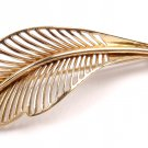 Vintage Tiffany & Co 14K Yellow Gold Leaf Brooch Pin
